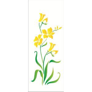 Estencil-Wall-para-Pintura-Simples-17x42-Flores-Hibiscos-OPA1228---Opa-
