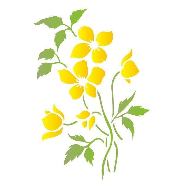 Estencil-para-Pintura-Simples-20x25-Flor-do-Campo-OPA1405---Opa-