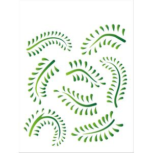 Estencil-para-Pintura-Simples-20x25-Folhagem-Samambaia-OPA1409---Opa