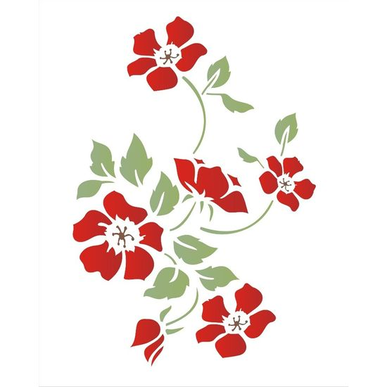 Estencil-para-Pintura-Simples-20x25-Flor-Papoulas-OPA1333---Opa