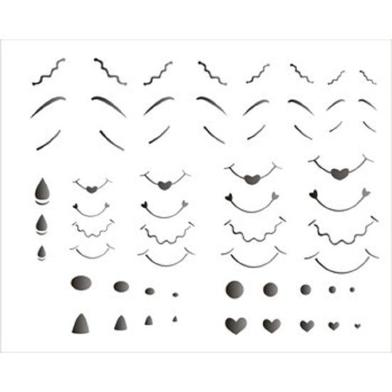 Estencil-para-Pintura-Simples-20x25-Nariz-Boca-Sobrancelha-OPA1179---Opa