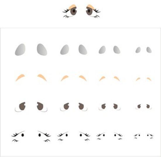 Estencil-para-Pintura-Simples-20x25-Olhinhos-II-OPA1164---Opa-