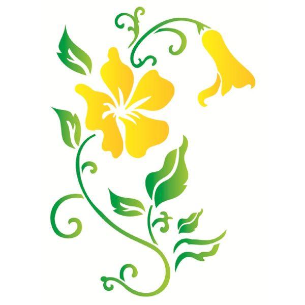 Estencil-Wall-para-Pintura-Simples-32x42-Flores-Hibiscos-OPA1269---Opa
