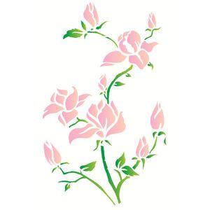 Estencil-Wall-para-Pintura-Simples-32x42-Flores-Magnolias-OPA1270---Opa