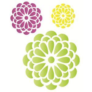 Estencil-Wall-para-Pintura-Simples-32x42-Flores-Redondas-OPA1271---Opa