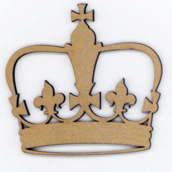 Aplique-Madeira-e-Papel-Coroa-LMAPC-191---Litocart