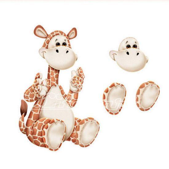 Aplique-Madeira-e-Papel-3D-Girafa-LDMPC-010---Litocart-
