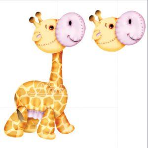 Aplique-Madeira-e-Papel-3D-Girafa-LDMPC-001---Litocart-