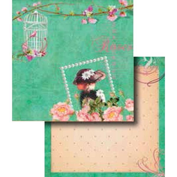 Papel-Scrapbook-Duplo-Flores-LSCD-268---Litocart-