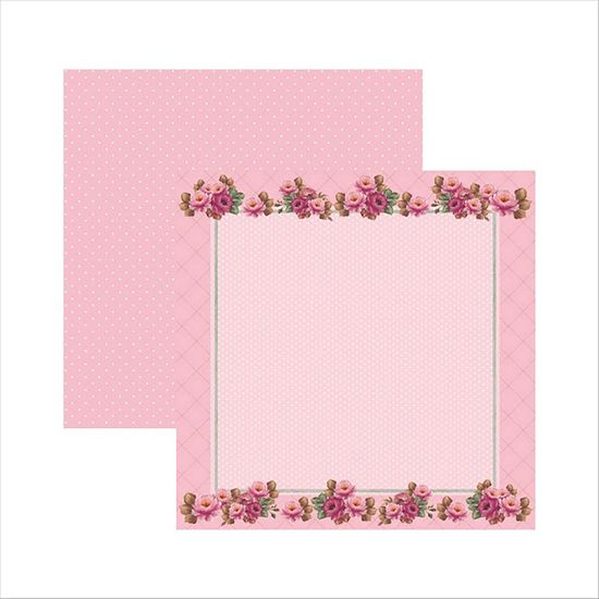 Papel-Scrapbook-Rosas-Delicadas-Moldura-SDF510---Toke-e-Crie-by-Mamiko