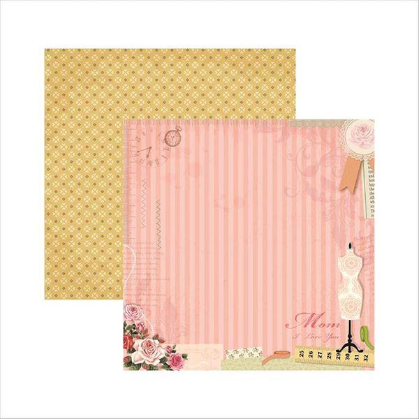 Papel-Scrapbook-Familia-Tradicional-Mae-SDF496---Toke-e-Crie