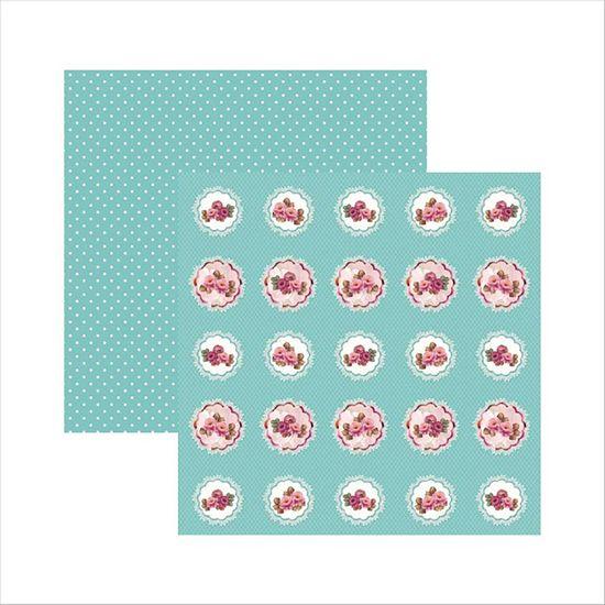 Papel-Scrapbook-Rosas-Delicadas-Medalhoes-SDF512---Toke-e-Crie-by-Mamiko