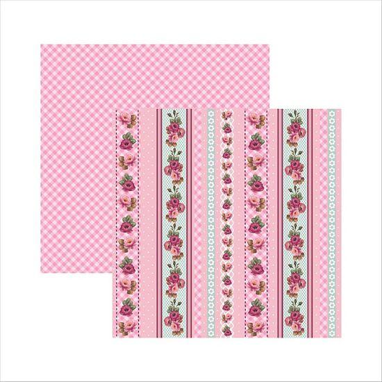 Papel-Scrapbook-Rosas-Delicadas-Barrinhas-SDF513---Toke-e-Crie-by-Mamiko