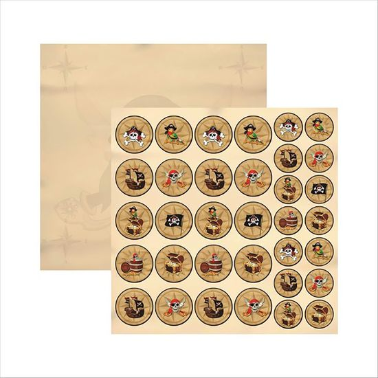 Papel-Scrapbook-Colecoes-Piratas-Medalhoes-SDF516---Toke-e-Crie-by-Ivana-Madi
