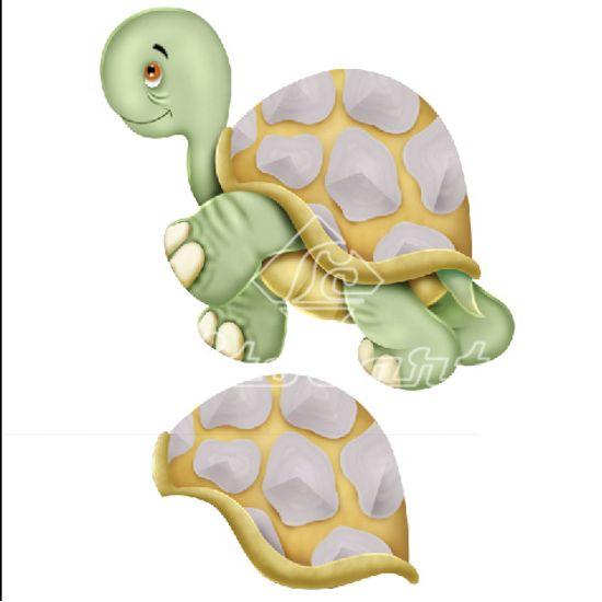 Aplique-Madeira-e-Papel-3D-Tartaruga-LDMPC-024---Litocart