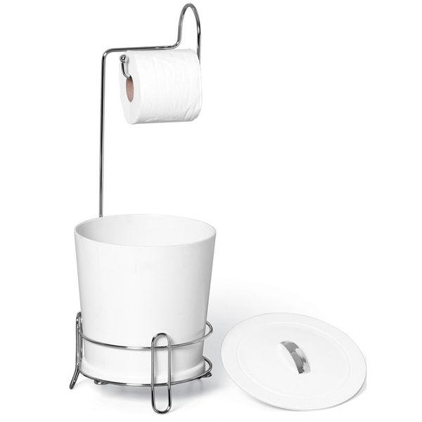 Suporte-para-Papel-Higienico-Cromado-com-Lixeira-Branca-304-4---Niquelart
