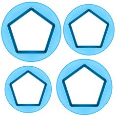 Cortador-Pentagonos-Pequeno-com-4-pecas---Blue-Star