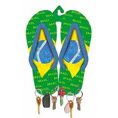 Porta-Chaves-MDF-Decoupage-Chinelo-Brasil-DM-046---Litoarte