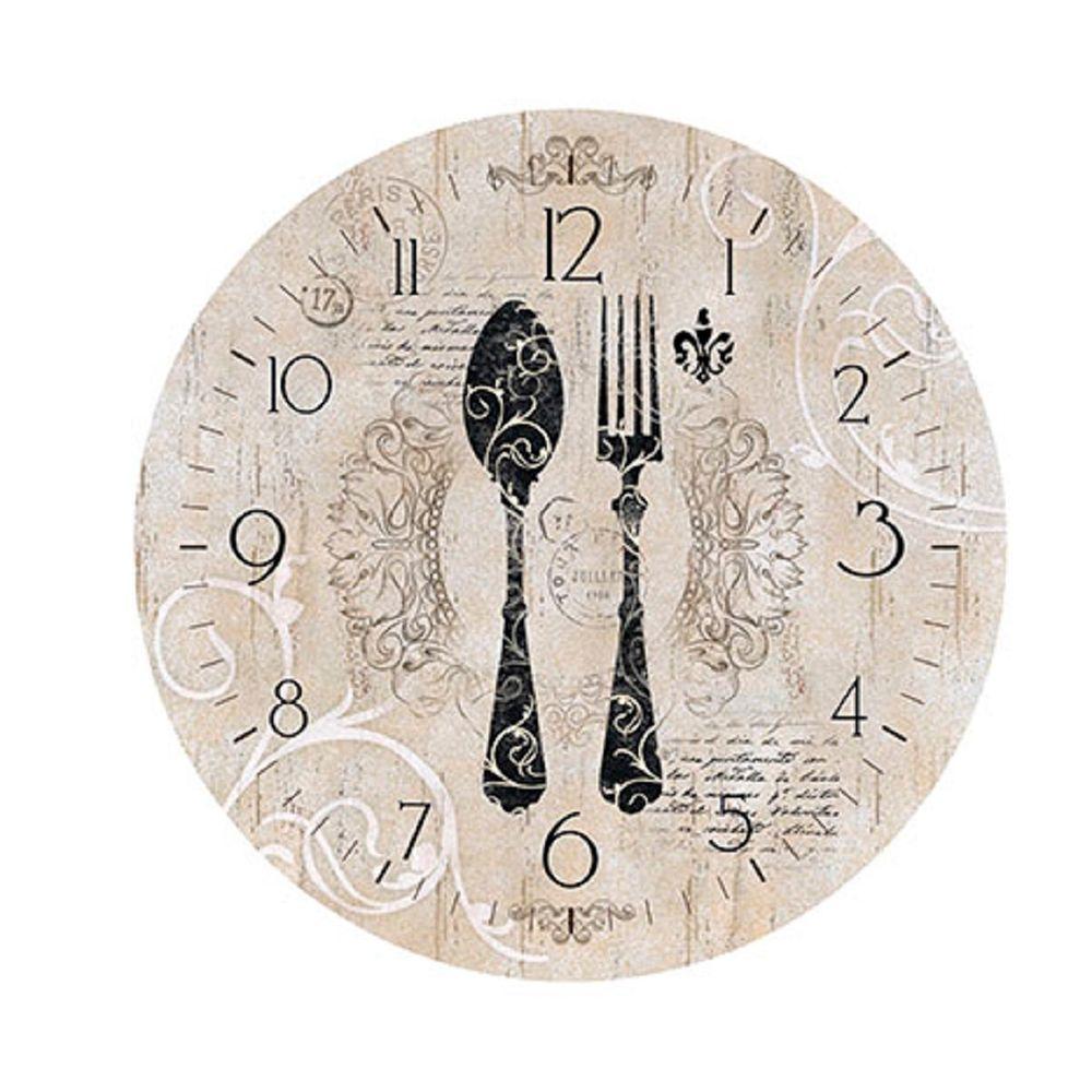 283e39d38f2 Placa em MDF e Papel Decor Home Relógio Talheres DHPM-047 - Litoarte -  PalacioDaArte