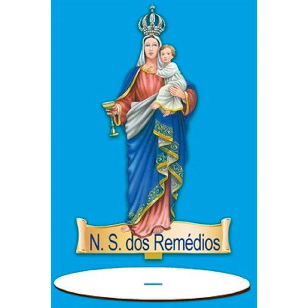 Enfeite-Arte-em-Madeira-MDF-e-Tecido-colado-com-Base-N.-S.-dos-Remedios-AMTB-003---Litoarte