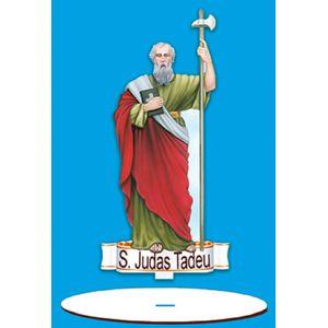 Enfeite-Arte-em-Madeira-MDF-e-Tecido-colado-com-Base-S.-Judas-Tadeu-AMTB-014---Litoarte