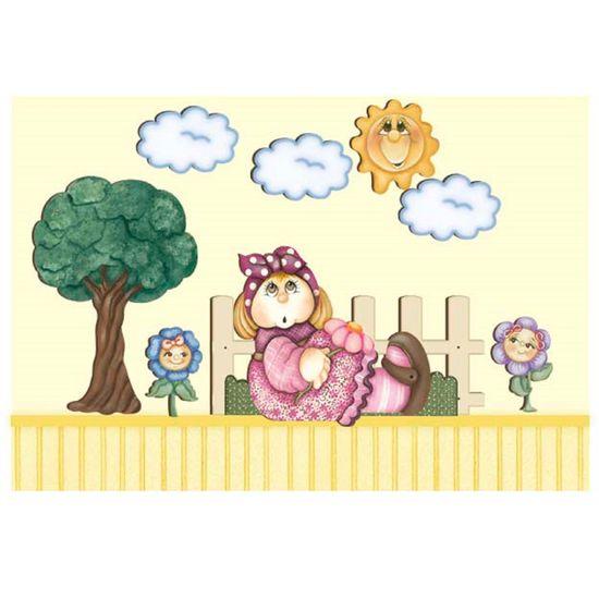 d5be36a11 Decoração para parede MDF Decoupage Sol e Nuvens DMA1-008 - Litoarte -  PalacioDaArte