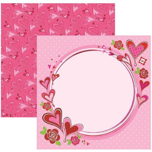 Papel-Scrapbook-DF-Amor-Puro-Moldura-SDF498---Toke-e-Crie
