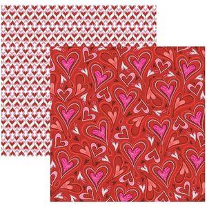 Papel-Scrapbook-DF-Amor-Puro-Coracoes-SDF501---Toke-e-Crie