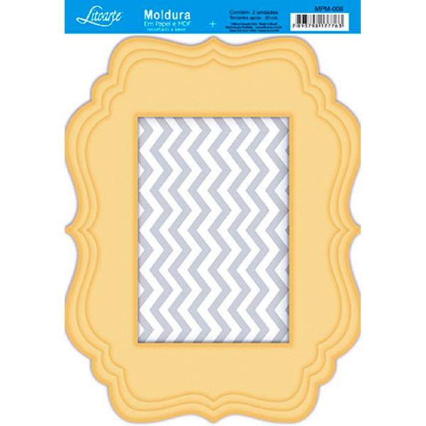 Molduras-em-Madeira-MDF-com-Papel-colado-Amarelo-MPM-008---Litoarte