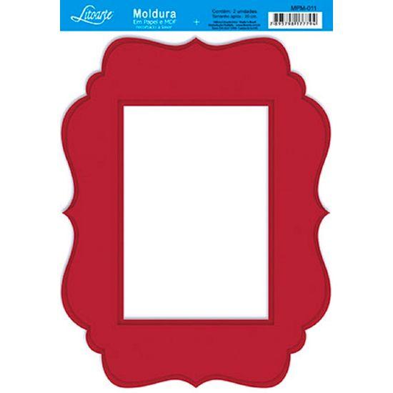 Molduras-em-Madeira-MDF-com-Papel-colado-Vermelho-MPM-011---Litoarte