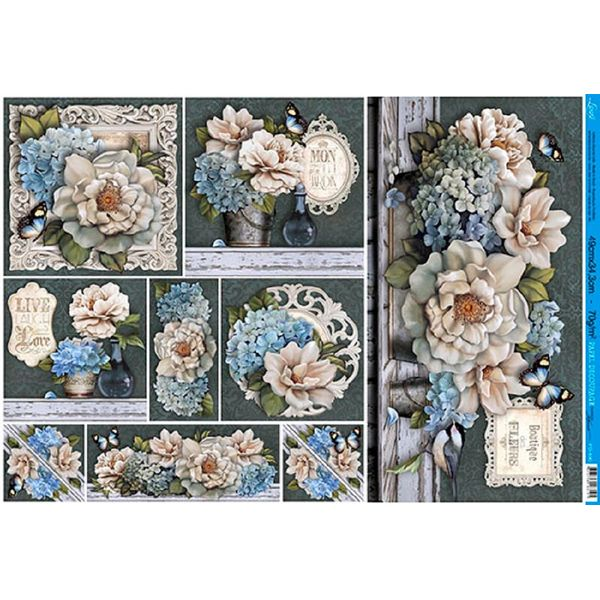 Papel-Decoupage-Grande-Flores-PD-890---Litoarte
