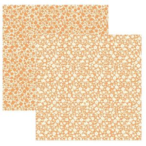Papel-Scrapbook-Basico-Classic-Floral-Laranja-KFSB320---Toke-e-Crie-by-Ivana-Madi