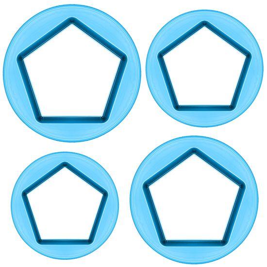 Cortador-Pentagonos-Medio-com-4-pecas---Blue-Star