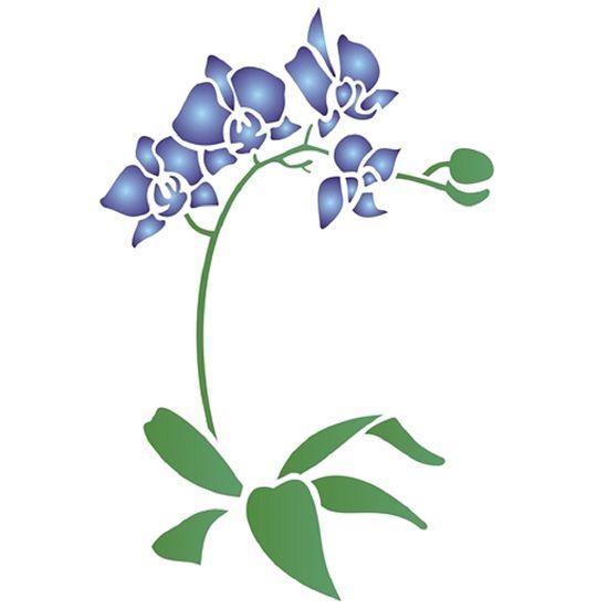 Estencil-Wall-para-Pintura-Simples-20X25-Phalaenopsis-OPA1454---Opa
