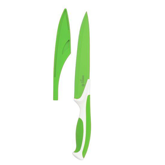 Faca-Cozinha-Antiaderente-203cm-Aco-Inox-8--polegadas-Verde-7711-8-–-Mundial