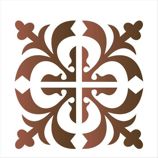 Estencil-para-Pintura-Simples-14x14-Ladrilho-Medieval---OPA1736---Opa