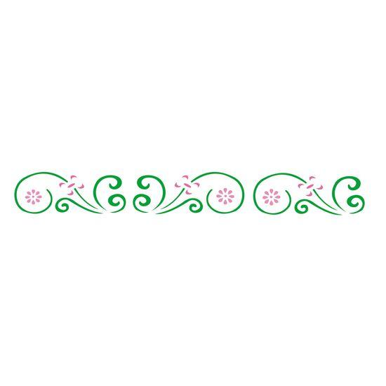 Estencil-para-Pintura-Simples-4x30-Arabesco-Margarida---OPA357---Opa