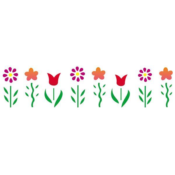 Estencil-para-Pintura-Simples-6x30-Jardim-Flores---OPA819---Opa