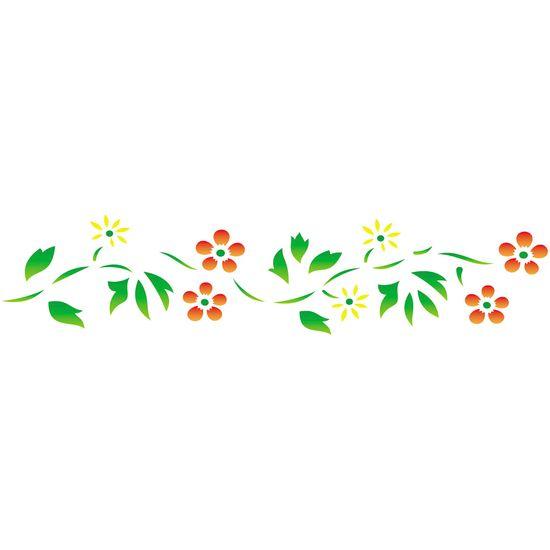 Estencil-para-Pintura-Simples-6x30-Ramo-de-Flores---OPA797---Opa