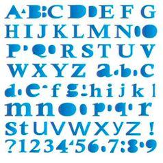 Estencil-para-Pintura-Simples-20x25-Alfabeto-Calisto---OPA155---Opa