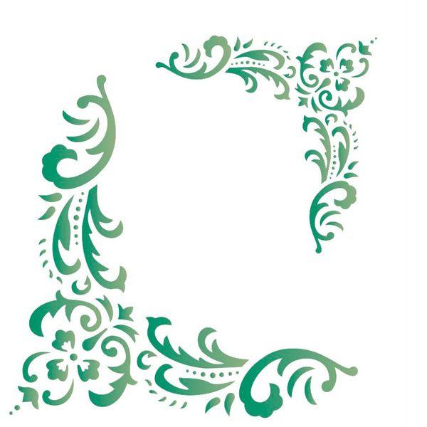 Estencil-para-Pintura-Simples-20x25-Cantoneira-Flor-Folhas---OPA1324---Opa
