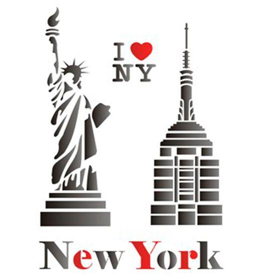Estencil-para-Pintura-Simples-20x25-Cidade-New-York---OPA1162---Opa