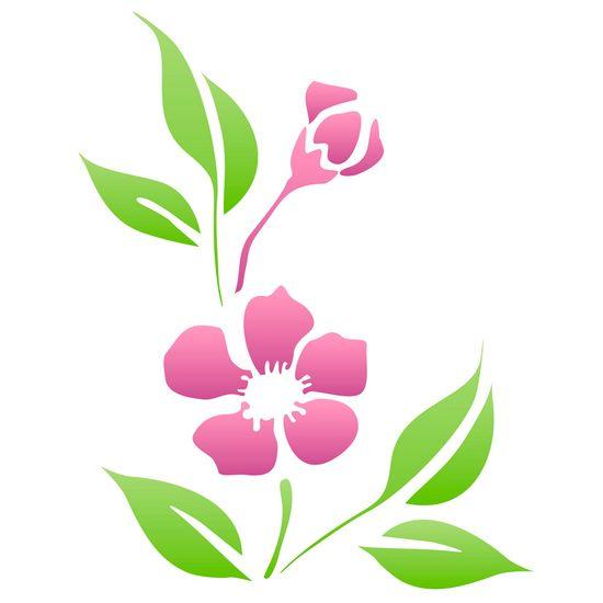 Estencil-para-Pintura-Simples-20x25-Flor-Peonia-Chinesa---OPA1021--Opa