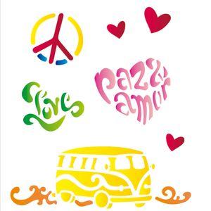 Estencil-para-Pintura-Simples-20x25-Paz-e-Amor---OPA1275---Opa