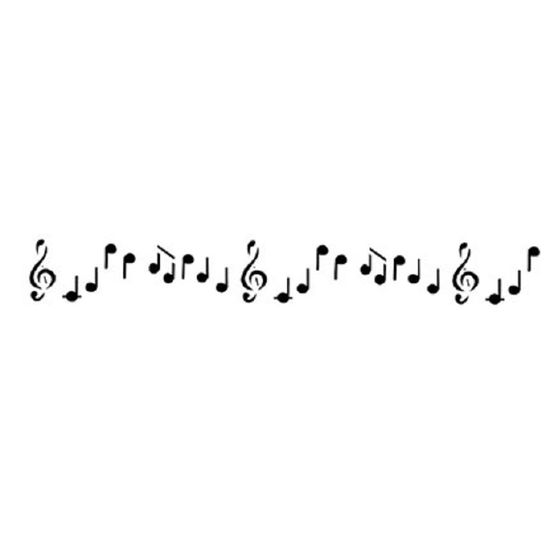 Estencil-para-Pintura-Simples-4x30-Notas-Musicais-II-OPA230---Opa