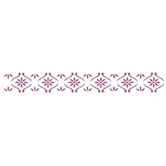 Estencil-para-Pintura-Simples-4x30-Floral-OPA356---Opa