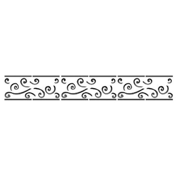 Estencil-para-Pintura-Simples-4x30-Arabesco-Barroco-OPA451---Opa