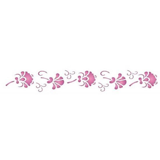 Estencil-para-Pintura-Simples-4x30-Floral-III-OPA1071---Opa