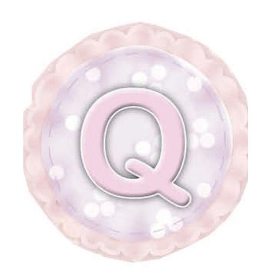 Aplique-Madeira-e-Papel-Placa-Letra--Q--Menina-LMAPC-308---Litocart