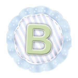 Aplique-Madeira-e-Papel-Placa-Letra--B--Menino-LMAPC-267---Litocart